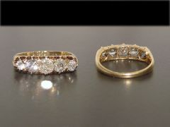 Antique 18ct Gold 5 Stone 1.50CT Diamond Ring