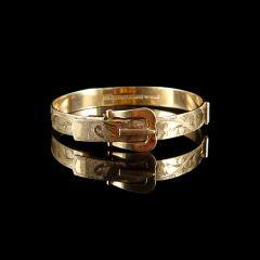 Vintage 9ct Gold Hinged Buckle Bracelet