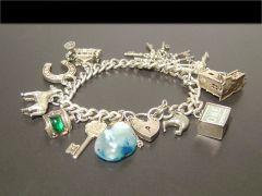 Vintage Solid Silver Charm Bracelet