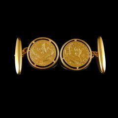 Antique 22ct Gold Turkish Coin Cufflinks