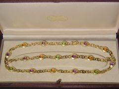 Vintage H. Stern 18ct Gold Multi Gem Jewellery Set