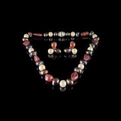 Vintage 18KT Gold Freshwater & Tahitian Pearl & Pink Tourmaline Jewellery Set