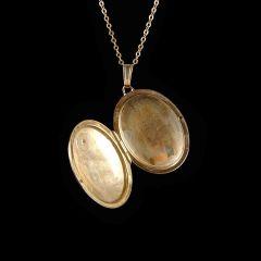 Vintage 9ct Gold & Diamond Picture Locket