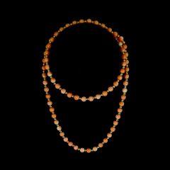 Vintage 14KT Gold & Pink Angel Skin Coral Bead Necklace