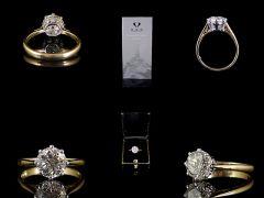 Vintage 18ct Gold & Plat 1.92ct Diamond Engagement Ring