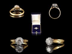 Vintage 18ct Gold .84ct Diamond Solitaire Engagement Ring