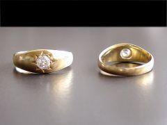 Antique 18ct Gold & Diamond Solitaire Ring