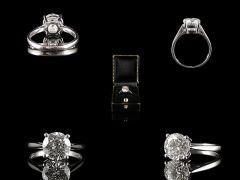 Vintage Platinum 2.01ct Diamond Engagement Ring