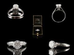 Vintage 18ct W/Gold 1.25ct Diamond Engagement Ring Set